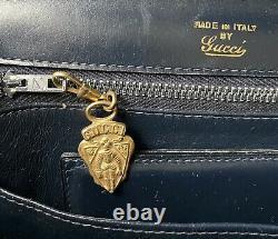 1950 NAVY Vintage GUCCI Handbag Sac à main GUCCI Vintage