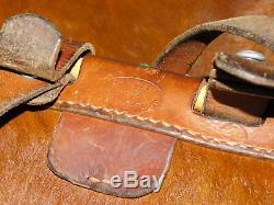 1952 CH. WEBER chaux de fonds VINTAGE SAC MILITAIRE SUISSE SWISS ARMY BAG cuir