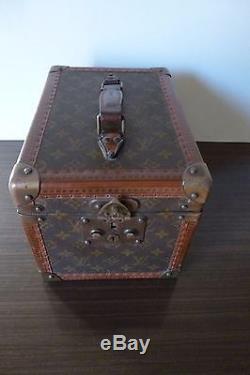 61d989cd37 Ancienne Sac Malette Cuir Vanity Case Louis Vuitton Paris French Vintage Bag