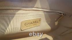 AUTHENTIQUE Sac CHANEL Vintage Cuir Caviar Beige Très Bon état / CHANEL handbag