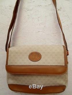 AUTHENTIQUE et joli sac à main vintage GUCCI cuir bag /