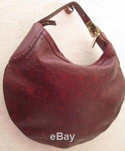 ca7127356d -authentique Grand Sac à Main Gucci Cuir Tbeg Vintage Bag