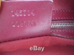 -AUTHENTIQUE grand sac à main GUCCI cuir TBEG vintage bag