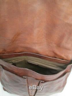 -AUTHENTIQUE grand sac besace THE BRIDGE cuir TBEG vintage bag A4