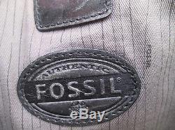 -AUTHENTIQUE grand sac de voyage FOSSIL cuir (T)BEG vintage bag