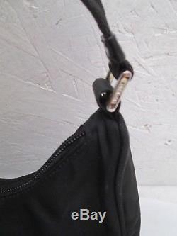 AUTHENTIQUE petit sac à main PRADA en toile et cuir vintage bag