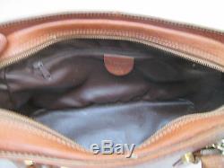-AUTHENTIQUE (réf F3979) sac à main ISANTI cuir TBEG bag vintage