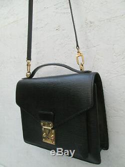 -AUTHENTIQUE sac LOUIS VUITTON Monceau cuir épi TBEG bag vintage 60's
