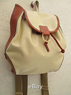 a297349fba -authentique Sac à Dos Lancel Toile Et Cuir Tbeg Vintage Bag