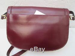 -AUTHENTIQUE sac à main CARTIER cuir TBEG bag vintage