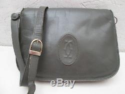 -AUTHENTIQUE sac à main CARTIER cuir TBEG vintage bag