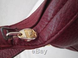 AUTHENTIQUE sac à main CELINE Paris cuir bordeaux vintage bag