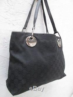 AUTHENTIQUE sac à main GUCCI cuir et toile BEG vintage bag /