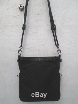 -AUTHENTIQUE sac à main GUCCI toile/cuir TBEG vintage bag