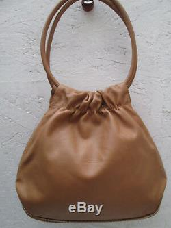 -AUTHENTIQUE sac à main LONGCHAMP cuir TBEG vintage bag