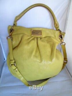 AUTHENTIQUE sac à main MARC by MARC JACOBS cuir jaune vintage bag