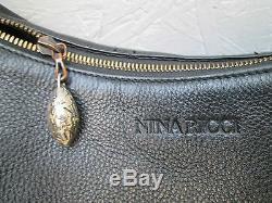 -AUTHENTIQUE sac à main NINA RICCI cuir TBEG bag vintage