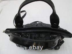 -AUTHENTIQUE sac à main bandoulière LANCASTER toile/cuir TBEG vintage bag