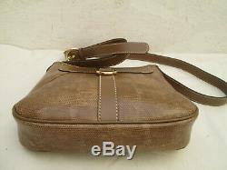 -AUTHENTIQUE sac à main bandoulière LANCEL cuir esprit reptile TBEG vintage bag
