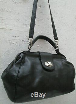 -AUTHENTIQUE sac à main docteur bandoulière PICARD cuir TBEG bag vintage
