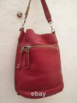 -AUTHENTIQUE sac à main type seau ROOTS cuir TBEG vintage bag