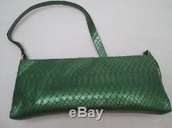 -AUTHENTIQUE sac à main type soirée COCCINELLE cuir python TBEG vintage bag