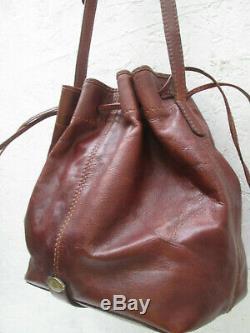 -AUTHENTIQUE sac bandoulière THE BRIDGE cuir TBEG vintage BAG