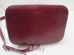 -AUTHENTIQUE sac bandoulière monobretelle CARTIER cuir BEG bag vintage