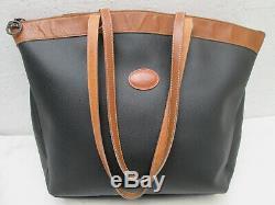 -AUTHENTIQUE sac cabas LONGCHAMP toile/cuir TBEG vintage bag