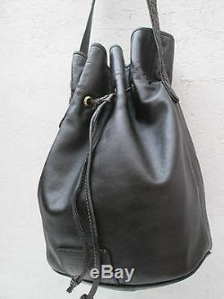 -AUTHENTIQUE sac type seau GIANFRANCO FERRE cuir TBEG vintage bag