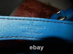 Ancien Sac Seau LV Louis Vuitton Cuir Épi Noe Bleu Vintage Bandoulière Reglable