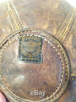 Ancienne poire de vitesse en cuir Boxe Sac de frappe Vintage