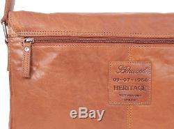 Ashwood Cuir Vintage Texture Sac Bandoulière/Besace/Messenger Compatible