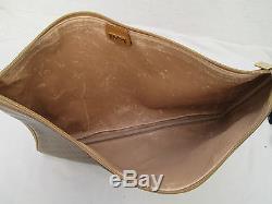 Auth PORTE DOCUMENTS A4 cartable sac GUCCI cuir et toile vintage bag /