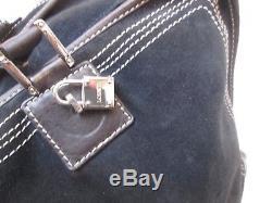 Authentique Grand Sac A Main Loewe Amazona Cuir Et Daim Vintage Bag