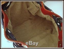 Authentique Sac caba Gucci Positano made Italie cuir/foulard vintage bag borsa
