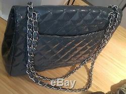 Authentique Sac cuir gris CHANEL, Modèle Timeless Vintage, Années 1983/1984