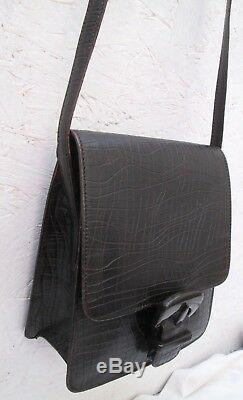 Authentique et superbe sac à main MAX MARA cuir marron vintage bag à saisir