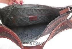 Authentique sac à main GUCCI cuir et toile BEG vintage bag