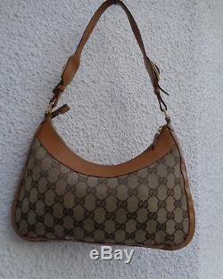 Authentique sac à main Gucci en cuir & Toile TBEG & vintage Bag