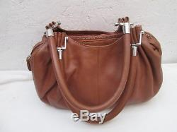Authentique sac à main LE TANNEUR Alice cuir vintage bag