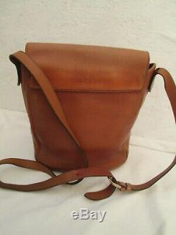 Authentique sac à main YVES SAINT LAURENT en cuir fauve vintage bag