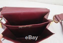 Authentique sac à main mixte MUST de CARTIER bandoulière vintage en cuir bag /