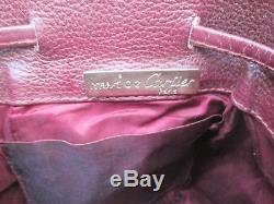 Authentique sac à main must de Cartier Paris vintage type seau en cuir bag