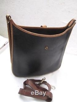 Authentique sac à main vintage Evelyne Hermès made in France cuir vintage bag
