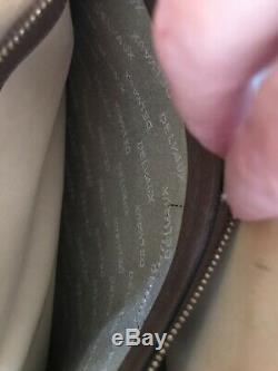 Authentique sac bandoulière DELVAUX Bruxelles cuir tressé vintage bag 33x26x7cm