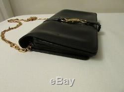 Authentique sac pochette vintage céline cuir noir