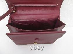 Authentique sac sacoche CARTIER vintage en cuir bag /