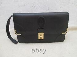 Authentique sac sacoche CARTIER vintage en cuir noir bag /
