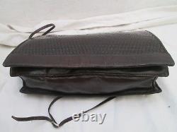Authentique sublime et rare sac à main FENDI vintage en cuir tressé bag